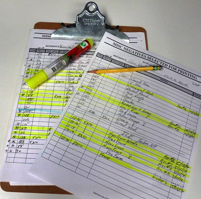 Negative Selector Sheets